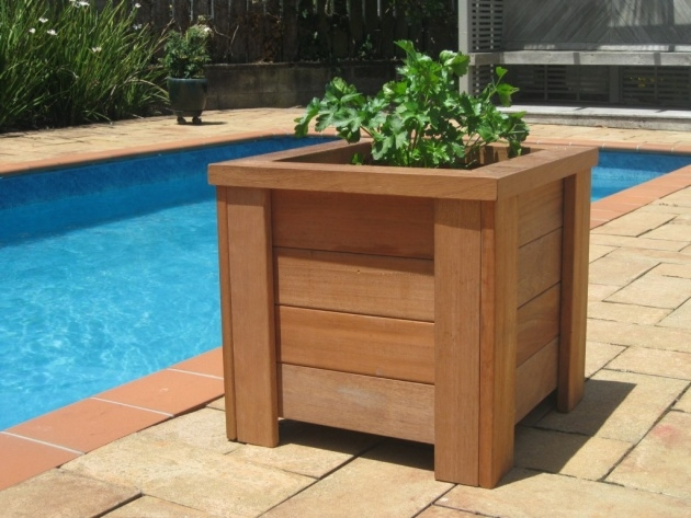 Fascinating Wood Planter Box Plans Picture