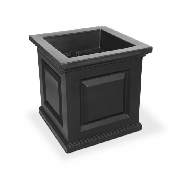 Gallery Of Black Square Planter Picture