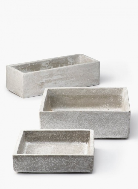 Gallery Of Rectangular Cement Planters Photo
