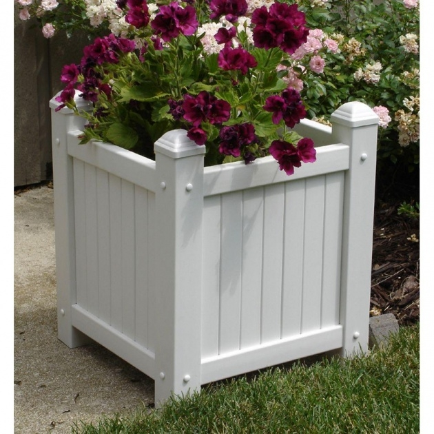 Gallery Of White Planter Box Image