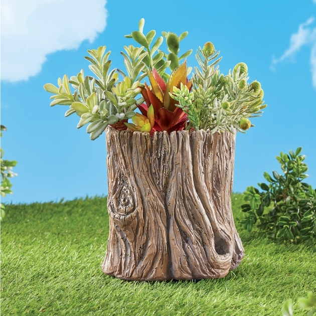 Good Wood Log Planter Picture