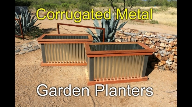 Gorgeous Corrugated Metal Planters Picture