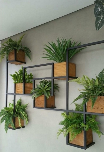 Gorgeous Vertical Wall Planter Indoor Image