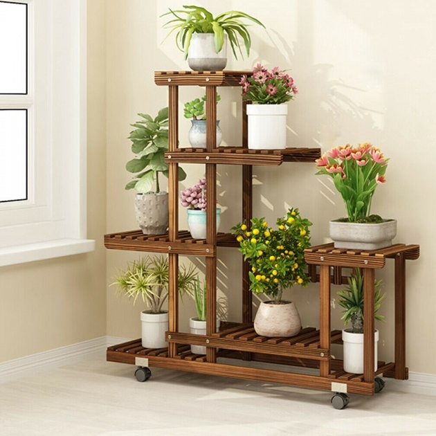 Great Ideas Plant Stand With Wheels Image