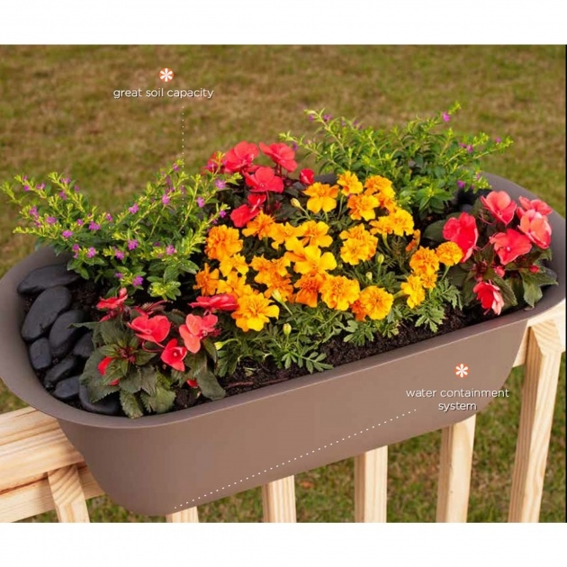 Great Ideas Railing Planters Picture