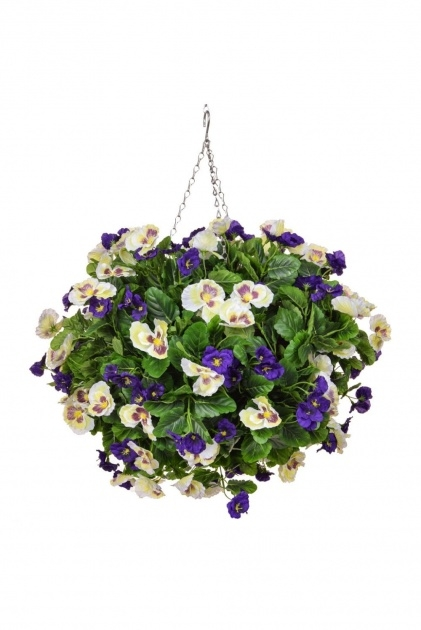 Ideas for Artificial Pansy Hanging Basket Picture