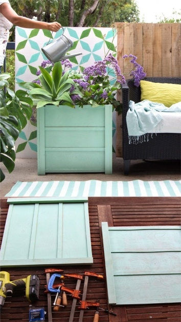 Ideas for Diy Wooden Planters Photo