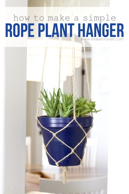 Ideas for Rope Plant Hanger Picture