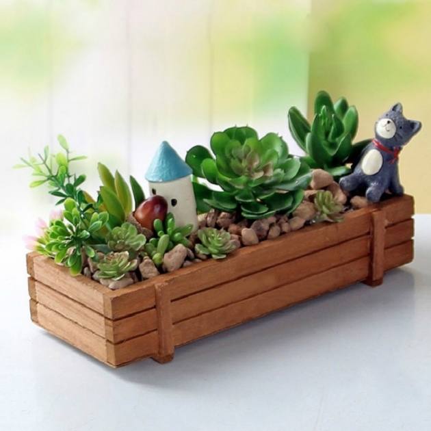Innovative Wooden Garden Planters Picture