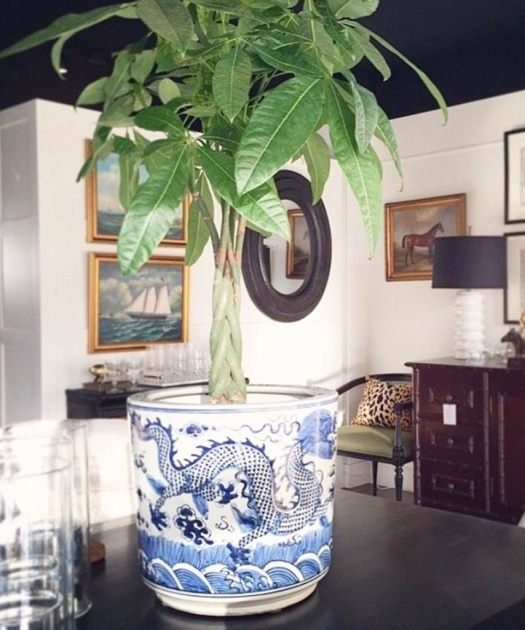 Insanely Large Blue And White Planter Picture