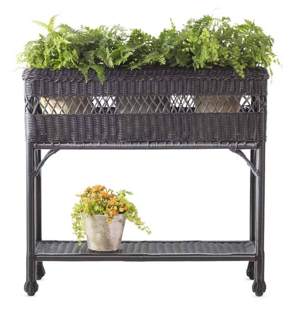 Insanely Resin Wicker Planter Boxes Photo