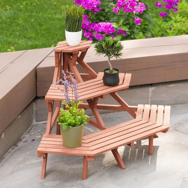 Inspiring Wooden Plant Stand Picture