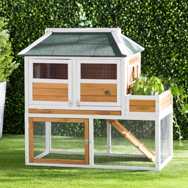 Interesting Chicken Coop With Planter Image