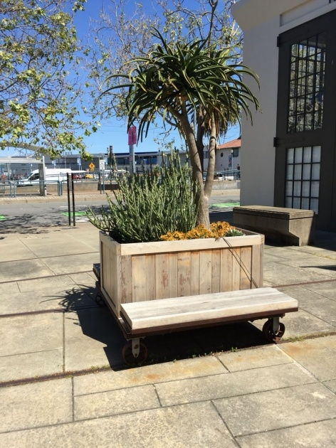 Interesting Movable Planter Boxes Image