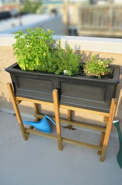 Interesting Planter Box Stands Outdoor Photo