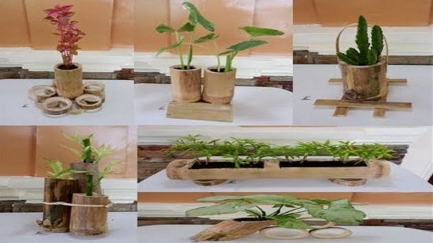 Marvelous Bamboo Planter Ideas Picture