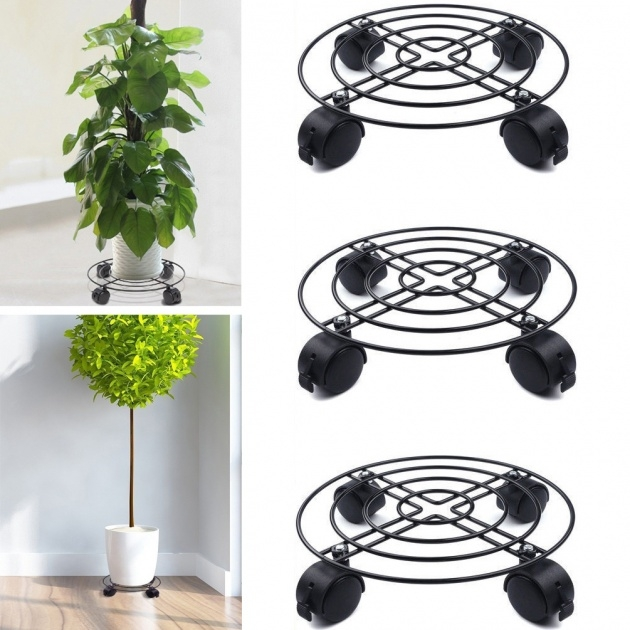 Marvelous Plant Stand With Wheels Photo