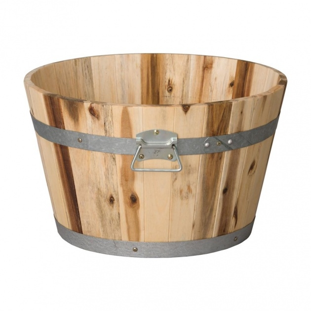 Most Perfect Wooden Bucket Planter Picture