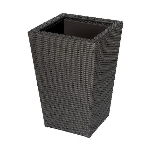 Outstanding Resin Wicker Planter Boxes Photo