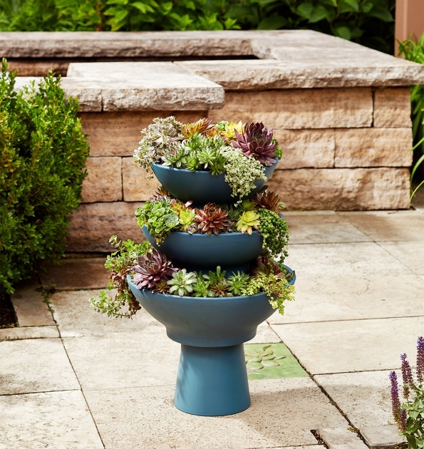 Outstanding Tower Plant Pots Photo