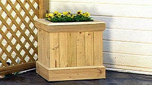 Outstanding Wood Planter Box Plans Photo