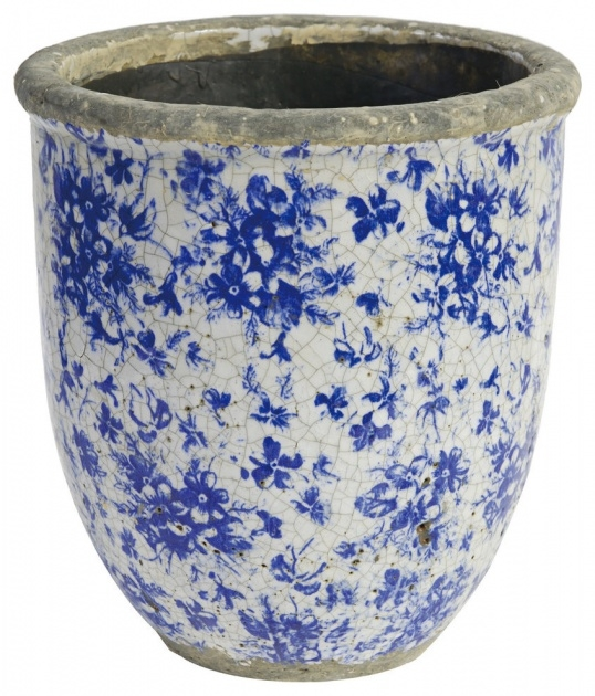 Perfect Blue And White Planter Image