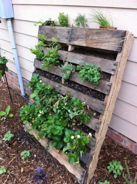 Perfect Pallet Strawberry Planter Picture