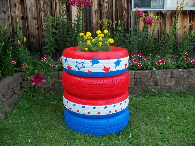 Perfect Tire Planters Picture