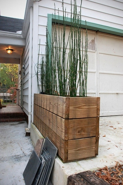 Popular Rustic Wooden Planters Picture