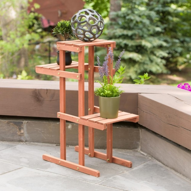 Popular Wooden Plant Stand Image