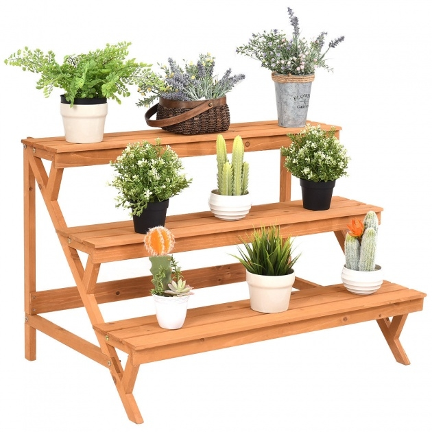 Popular Wooden Plant Stand Picture