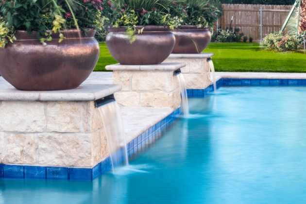 Sensational Swimming Pool Planters Picture