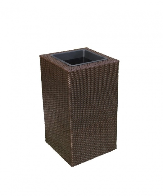 Simple Resin Wicker Planter Boxes Picture