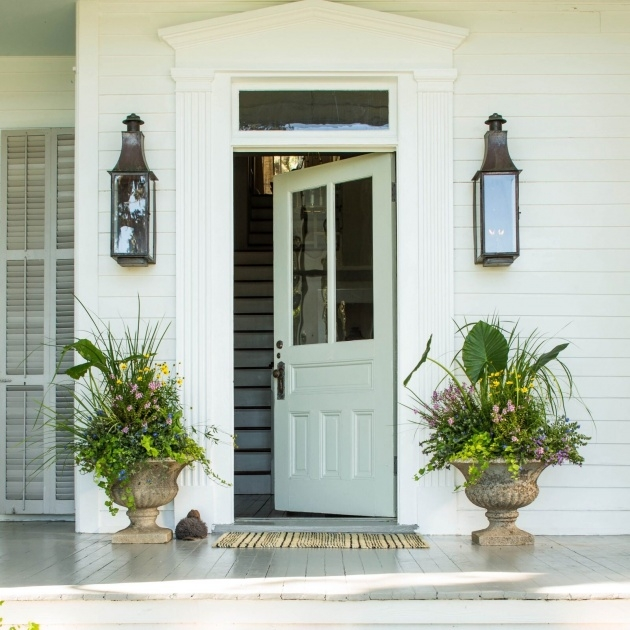 Stunning Front Entrance Plants Picture