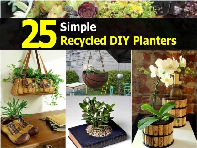 Stunning Recycled Diy Planters Picture