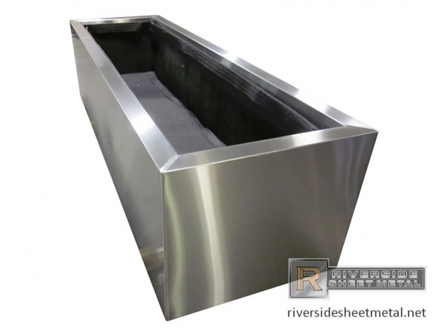 Stylish Stainless Steel Planters Picture
