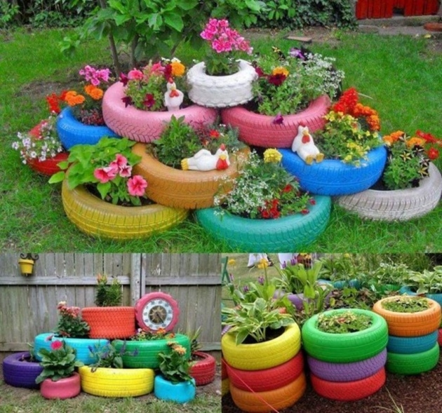 Super Cool How To Make Tire Planters Photo