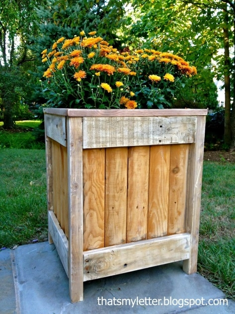 Super Cool Rustic Wooden Planters Picture