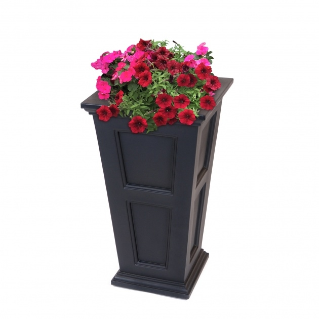 Surprising Tall Black Planter Picture