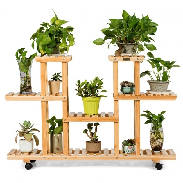 Top Plant Stand With Wheels Image