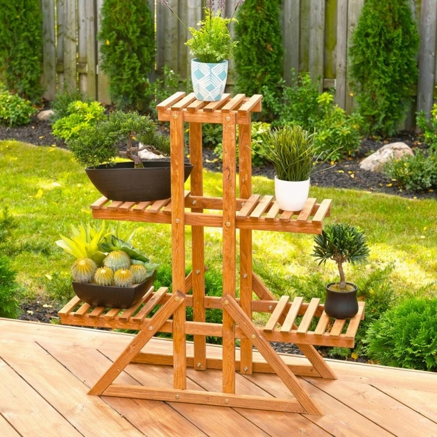 Wonderful Outdoor Plant Stand Photo